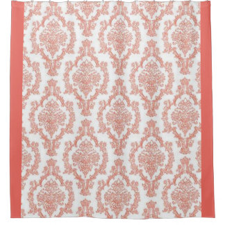 Elegant Pink Damask Shower Curtain