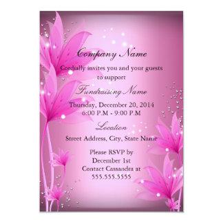 Elegant Pink Floral Fundraiser Invitation