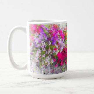 Elegant Pink Floral Shabby Chic Flowers Coffee Mug