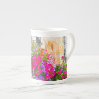 Elegant Pink Floral Shabby Chic Flowers Tea Cup