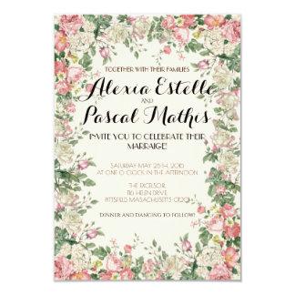 Elegant Pink Floral Wedding Invitation