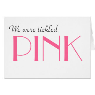 Elegant Pink Gender Reveal Thank You  Card