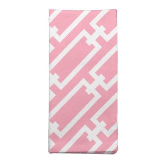 Elegant Pink Geometric Links Pattern Napkin