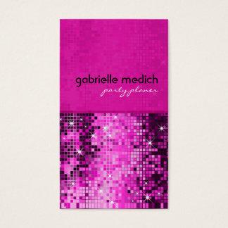 Elegant Pink Glitter Metallic Sequence Pattern Business Card