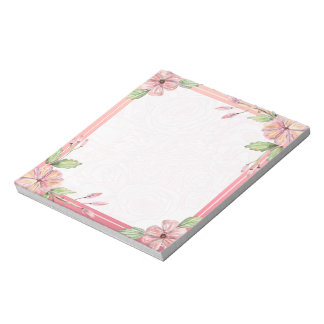 Elegant Pink lovely Watercolor Floral Notepad