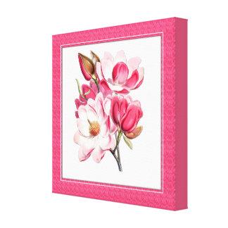 Elegant Pink Magnolias Canvas