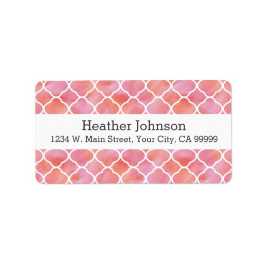 Elegant Pink Pattern Watercolor Geometric