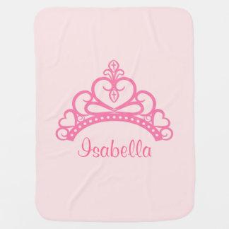 Elegant Pink Princess Tiara, Crown for Baby Girls Swaddle Blanket
