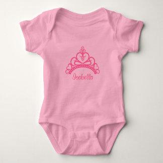 Elegant Pink Princess Tiara, Crown for Baby Girls Tee Shirt