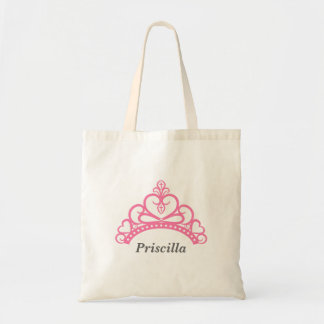 Elegant Pink Princess Tiara, Crown for Girls Tote Bag