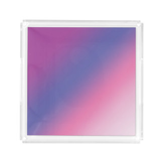 elegant pink purple blue ombre gradient colorful acrylic tray