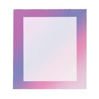 elegant pink purple blue ombre gradient colorful notepad