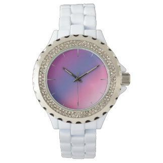 elegant pink purple blue ombre gradient colorful watch