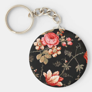 Elegant Pink Rose Key Chain