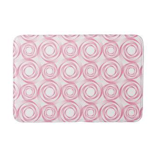 Elegant Pink Spiral Vortex Bath Mat