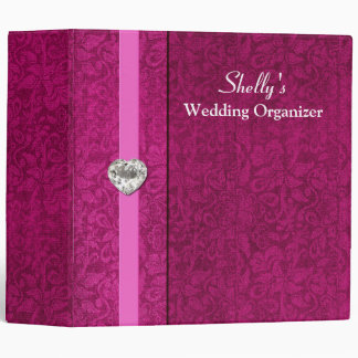 Elegant Pink Wedding Organizer Binder