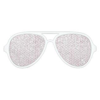 Elegant pink white chic faux glitter stripes aviator sunglasses