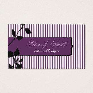 Elegant Pinstripe Original Interior Designer Business Card