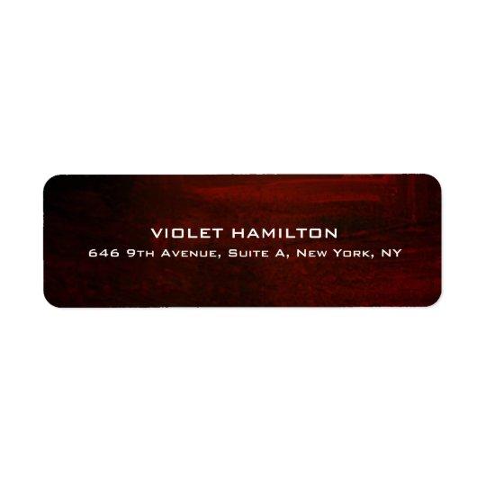 Elegant Plain Simple Brown Red Professional Modern Return Address Label