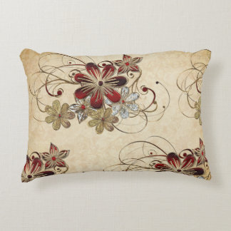 Elegant Poinsettia Christmas Accent Pillow