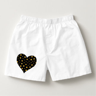 Elegant polka dots - Black Gold Boxers