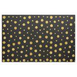 Elegant polka dots - Black Gold Fabric