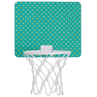 Elegant Polka Dots -Mint & Gold- Mini Basketball Hoop