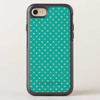 Elegant Polka Dots -Mint & Gold- OtterBox Symmetry iPhone 8/7 Case