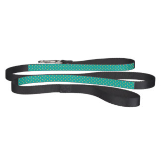 Elegant Polka Dots -Mint & Gold- Pet Leash