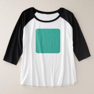 Elegant Polka Dots -Mint & Gold- Plus Size Raglan T-Shirt