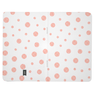 Elegant polka dots - Soft Pink Gold White Journal