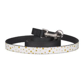 Elegant polka dots - White Gold Pet Leash