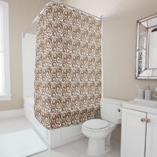 Elegant Pompadour Shower Curtain