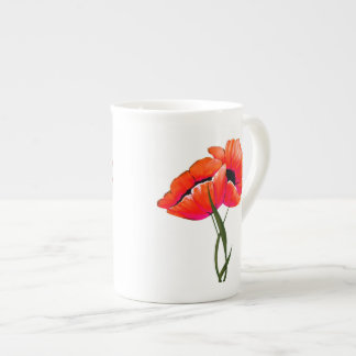 Elegant Poppies China Mug