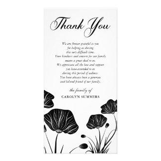Elegant Poppies   Sympathy Thank You Card