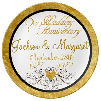 Elegant Porcelain Plate for ANY Anniversary!