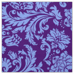 Elegant Powder Blue & Purple Floral Damasks Fabric
