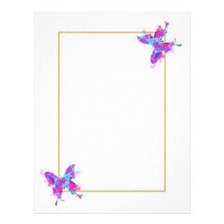 Elegant Pretty Butterfly Artistic Design Letterhead
