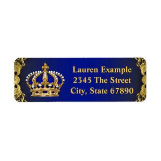 Elegant Prince Baby Shower Address Labels