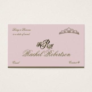 Elegant Princess Calling Card