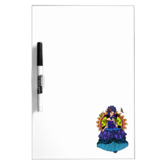 Elegant princess illustration with butterfly Dry-Erase whiteboard