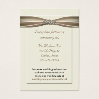 Elegant Princess Wedding Enclosure Cards