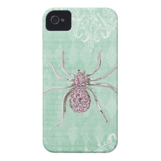 Elegant Printed Jewel Spider Vintage Shabby Chic Case-Mate iPhone 4 Cases
