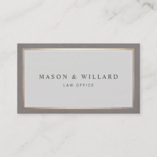 Attorney business cards profile cards zazzle ca elegant professional attorney gold border business card reheart Image collections