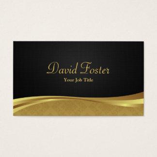 Elegant Professional Black and Gold Damask Business Card