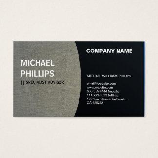 ELEGANT PROFESSIONAL BLACK SAND STONE FABRIC LINEN BUSINESS CARD