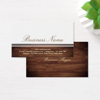 Elegant Professional Classy Wooden Business Card