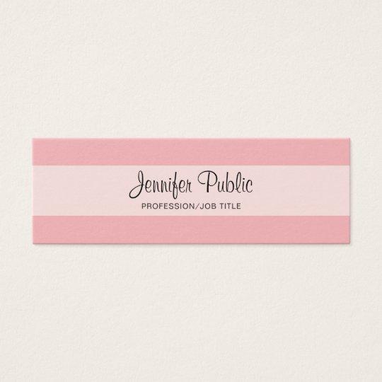 Elegant Professional Creative Design Pink Modern Mini Business Card