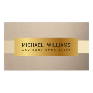 ELEGANT PROFESSIONAL FABRIC PAPER SMOOTH WARM GOLD BUSINESS CARD