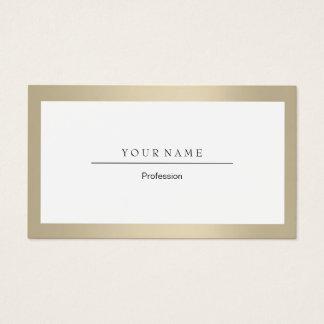 Elegant Professional Frame Ivory Gold Crystal Business Card
